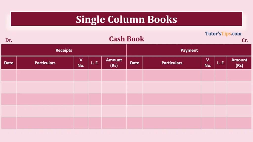 Single column Cash book feature image