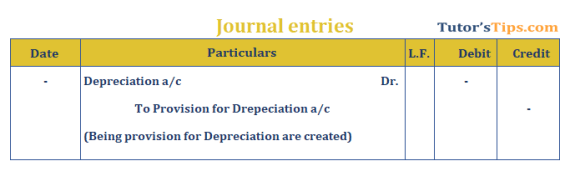 Provision in Accounting Journal Entry for provision for Depreciation - Provision in accounting: Meaning, Types, Treatment