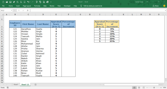 Example of VLOOKUP Formula - VLOOKUP in Excel - Explanation with example
