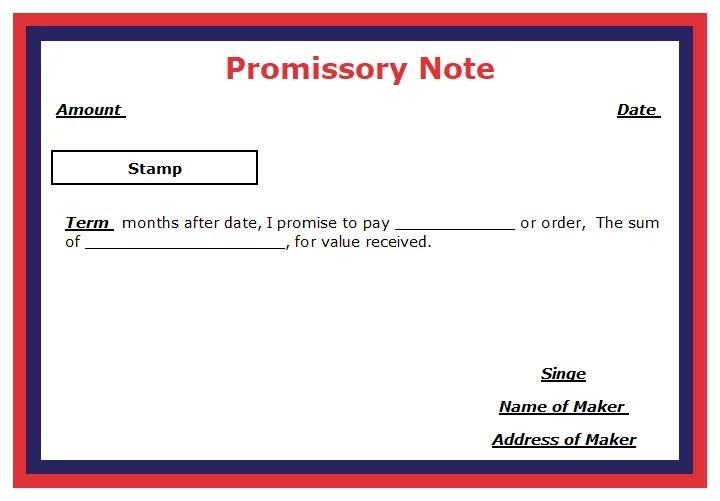 Promissory Note - Format