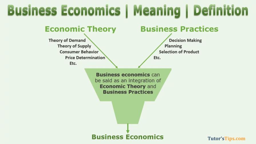 Meaning of Business Economics 2 - Business Economics