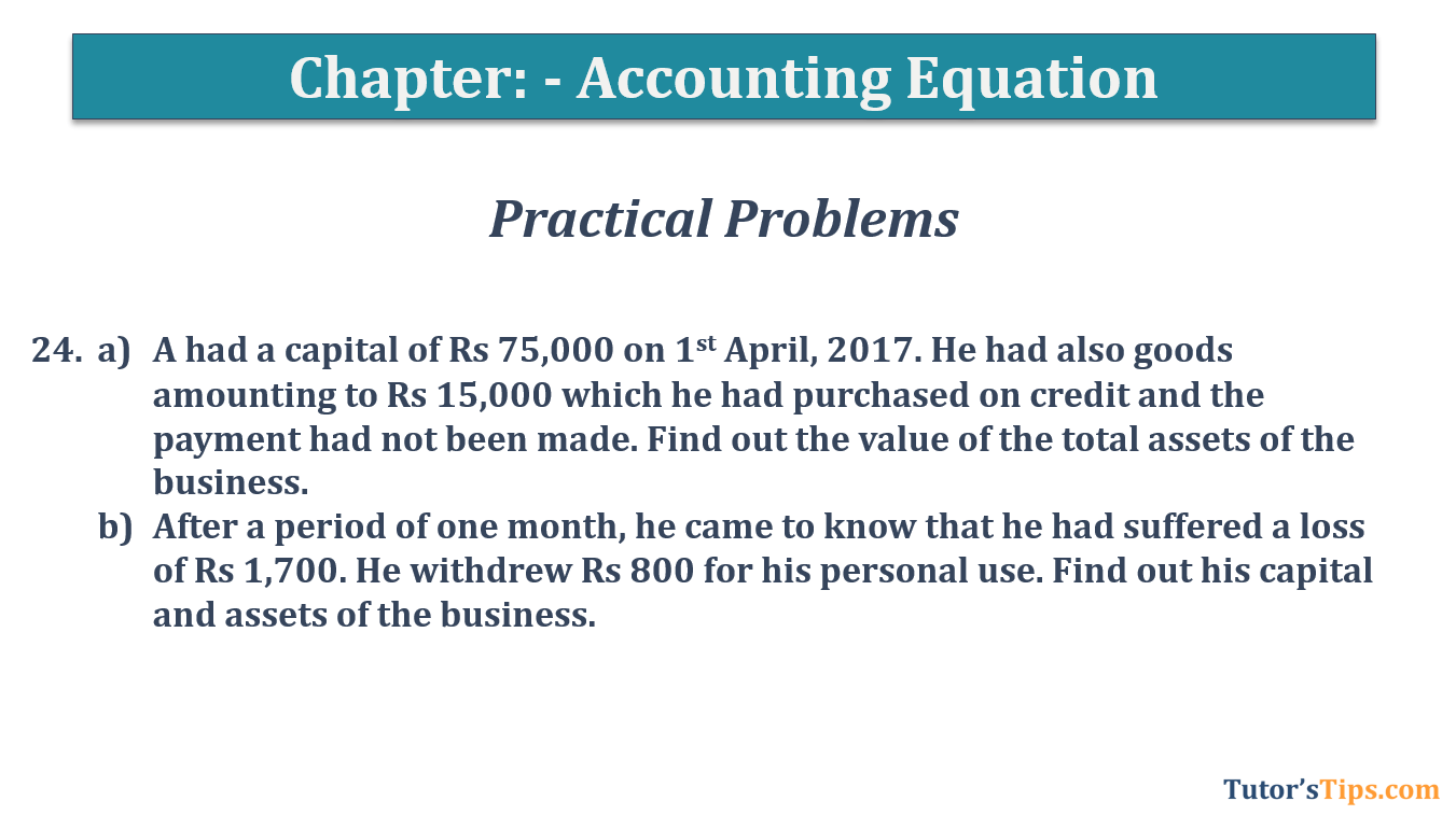 Question No.24 - Chapter No.5- T.S. Grewal +1 Book 2019
