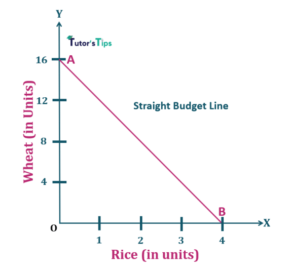 1.Straight Budget Line- Properties of Budget line
