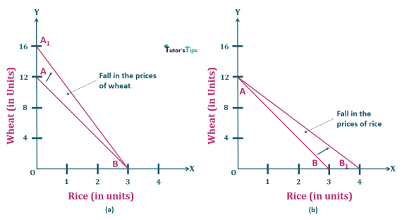 7.Fall in price of one commodity-Properties of Budget Line