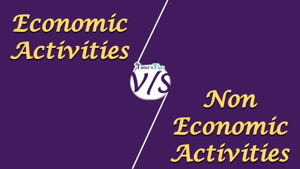 Economic and non economic act