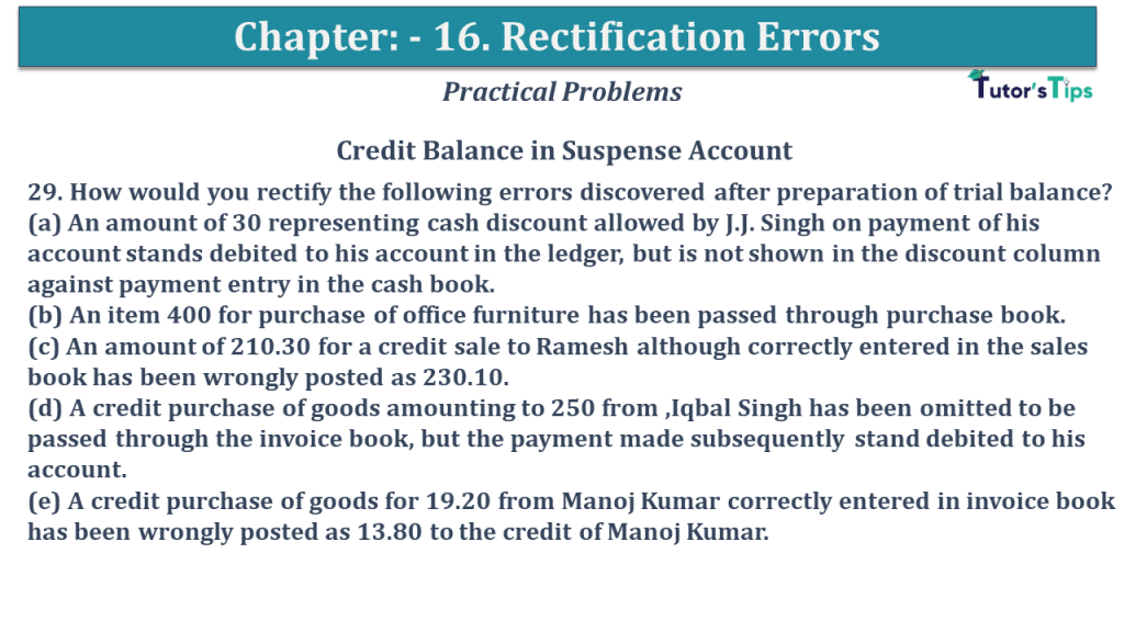 Question No 29 Chapter No 16