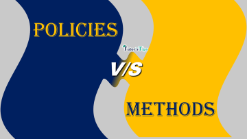 Difference between Policies and Methods min - Differences - Business Studies