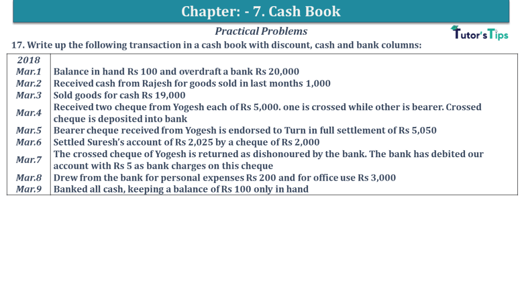Question No 17 Chapter No 7