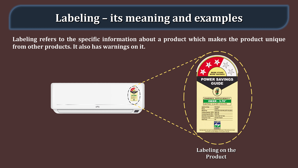 Labeling – its meaning and examples min - Business Studies
