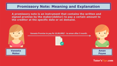 Promissory Note - Meaning and explanation