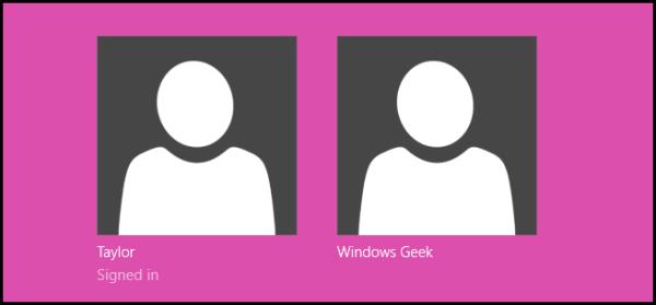 Как изменить цвет экрана входа в Windows 8