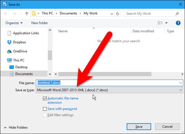 Как изменить формат файла по умолчанию в LibreOffice