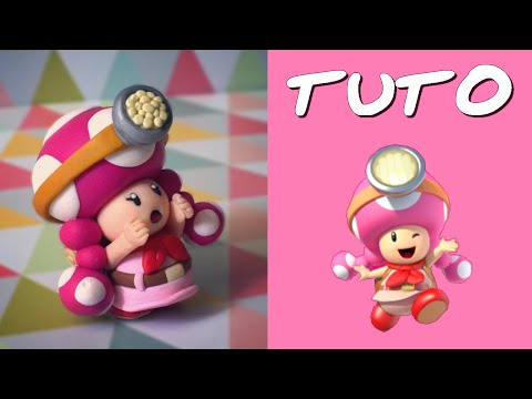 TUTO FIMO   Toadette l'aventurière (de Mario)