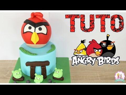 ♡• GATEAU PATE A SUCRE ANGRY BIRDS CAKE DESIGN – FONDANT CAKE •♡