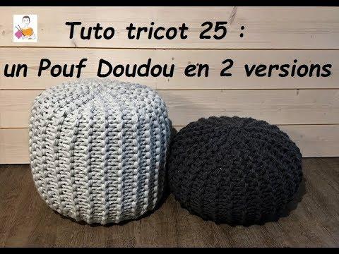 tuto tricot 25 pouf doudou d butant total tutoriels pour les nuls. Black Bedroom Furniture Sets. Home Design Ideas