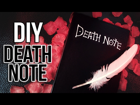 CRÉER UN DEATH NOTE – DIY