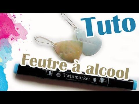 TUTO FIMO: FEUTRE À ALCOOL | PolymerClay Tutorial alcohol felt