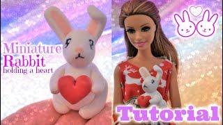 Tutoriel : lapin de Saint Valentin miniature pour nos dolls ??? en fimo