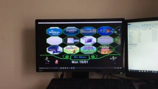 Wii menu 4.3E on dolphin emulator themed and home brewed with lots of channels