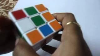 Simplest Tutorial for Solving the 3×3 Rubik's Cube in telugu Step 2