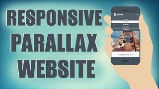 Responsive HTML/CSS Parallax Website From Scratch