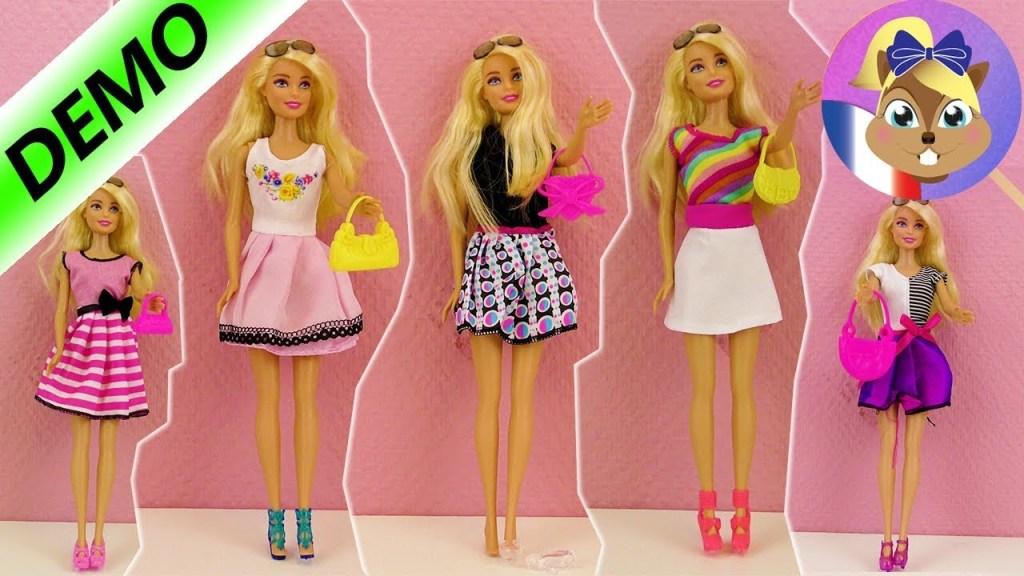 Nouvelles robes Barbie | Relooking & Défilé de mode | Top 5 des robes, chaussures, sacs à main