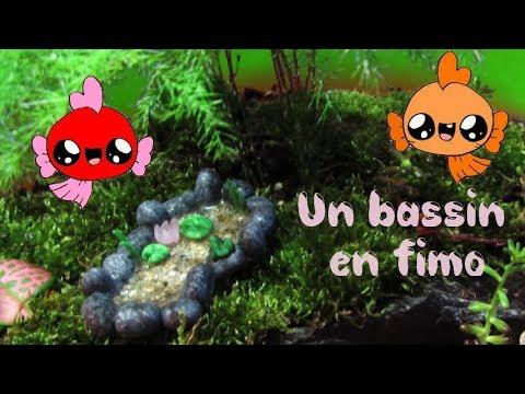 [Fimo] Bassin à poisson rouge avec nénuphars