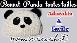 Pas à pas bonnet panda, toutes tailles