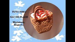 TUTO FIMO : Miniature SAC PLAGE, magnet…