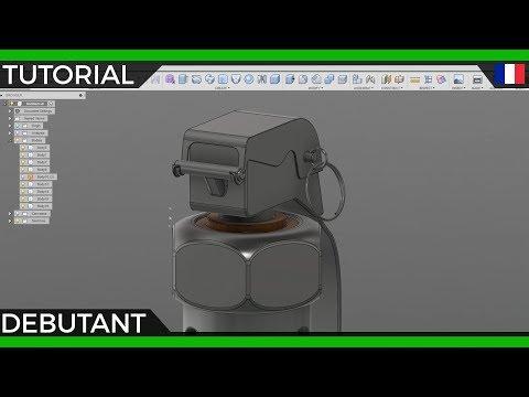 Tuto FR | Initiation complète à Fusion 360 le logiciel de modélisation. Grenade par Walk'n