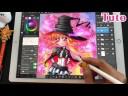 TUTO DESSIN COMMENTÉ Hana de Halloween   Comment dessiner manga au crayon à papier & colorier iPad