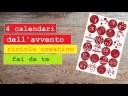 4 CALENDARI dell'AVVENTO fai da te (2018) riciclo cretivo tutorial