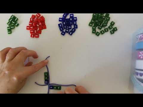 Calcul du carré d'un nombre avec les timbres Montessori
