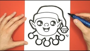 Comment Dessiner Et Colorier Un Chien Kawaii Avec Un Bonnet De Noël