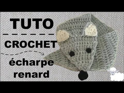 Écharpe renard crochet – tuto en français – 🦊 Écharpe crochet enfant facile et rapide