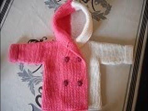 tuto tricot manteau bébé 0 au 24 mois