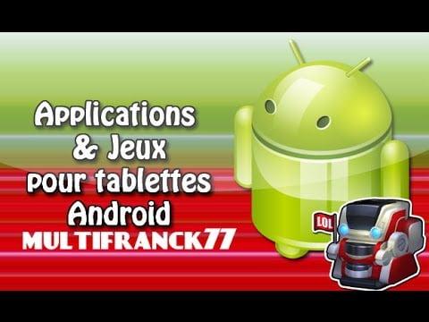 android tablette application-jeux gratuit tuto .