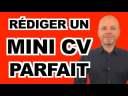 TUTO CV : COMMENT RÉDIGER UN MINI CV PARFAIT (conseils cv gagnant, erreurs)