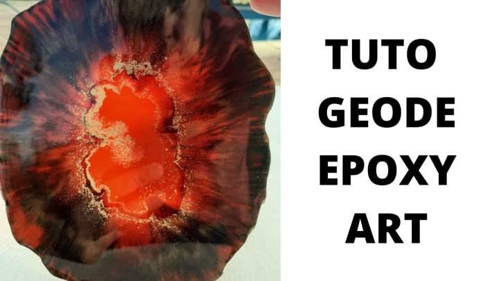 TUTO GEODES RESINE EPOXY ROUGE ET NOIR
