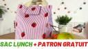 Tuto couture – Sac lunch – Patron gratuit 🎁