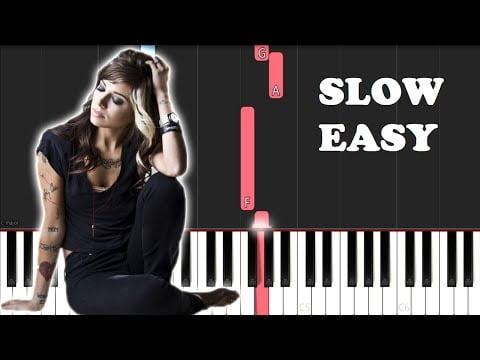 Christina Perri – A Thousand Years (SLOW EASY PIANO TUTORIAL)