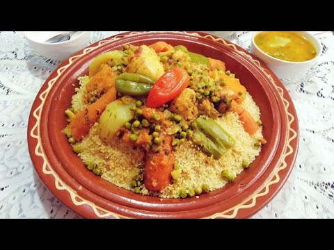 Recette Couscous Marocain Aux Légumes / Moroccan Couscous Recipe ASMR @Fatima's World