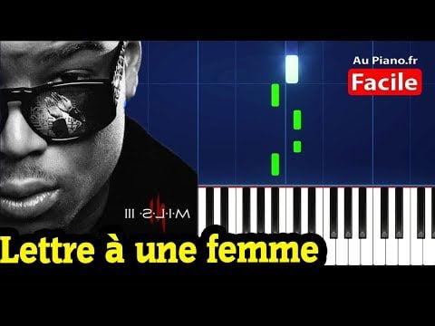 Ninho – Lettre à une femme ( Piano Cover Tutorial Paroles Instrumental Karaoke)