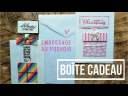 Scrapbooking Carterie tutoriels français – Cartes Interactive Boîte cadeau et embossage au pochoir!