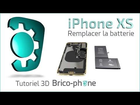 Tutoriel 3D iPhone XS : comment changer la batterie