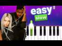 Billie Eilish, Khalid – lovely (100% SLOW EASY PIANO TUTORIAL)