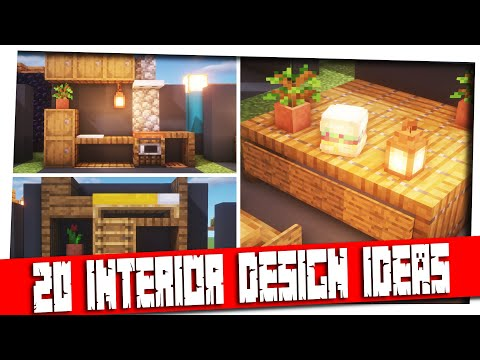 Minecraft – 20  Interior Decoration Ideas and Designs! [Inspiration & Tips]