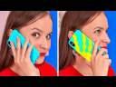 DES ASTUCES GÉNIALES POUR TON TÉLÉPHONE || Des Idées Super Cool Pour Ta Coque par 123 GO! BOYS