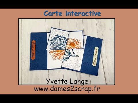 "Yvette Lange Stampin'up! tuto vidéo ""carte interactive""."