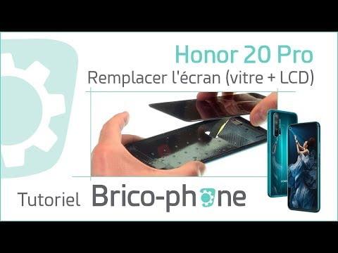 Tutoriel Honor 20 Pro : changer l'écran (vitre + LCD)
